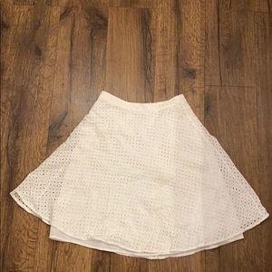 White Eyelet skirt
